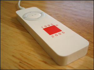 red square ipod shuffle