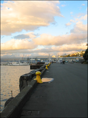 harbour towards sunset