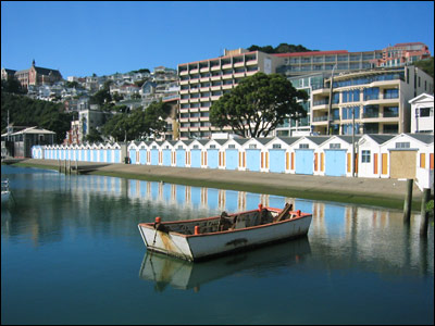 boat and boat sheds in wellington