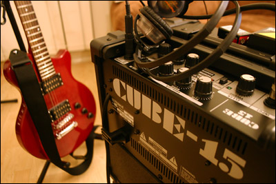 guitar and cube amp