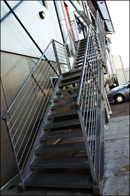 stairs at pier 7