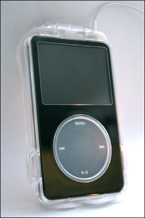 iPod in plastic cover